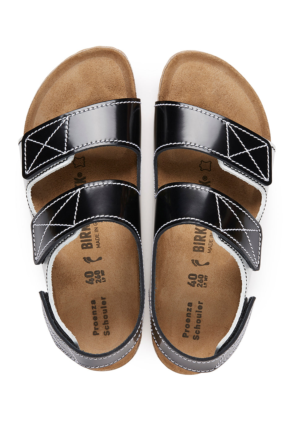 proenza schouler - Birkenstock Edition Milano Sandal, black and white