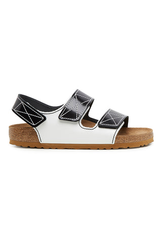 Birkenstock Edition Milano Sandal, black and white