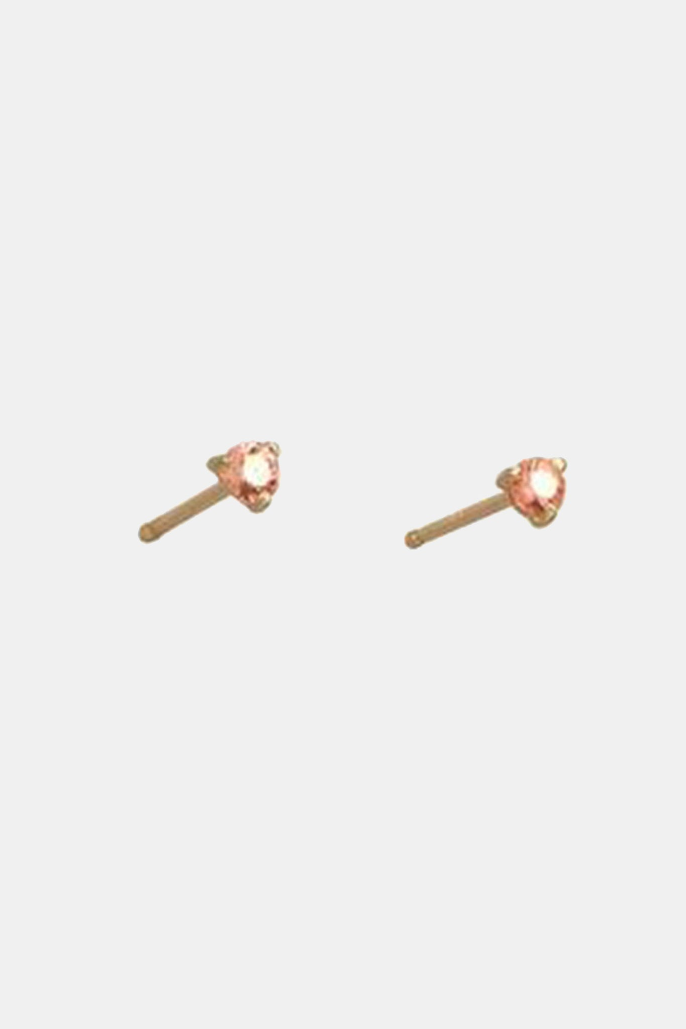 WWAKE - small stud earrings, pink tourmaline