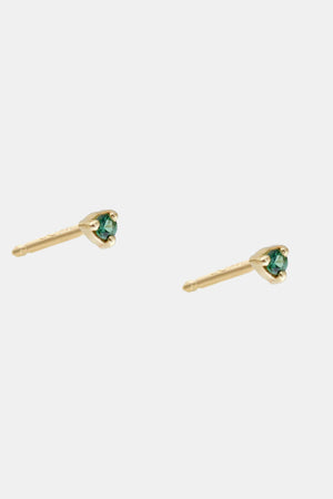 WWAKE - small stud earrings , teal tourmaline