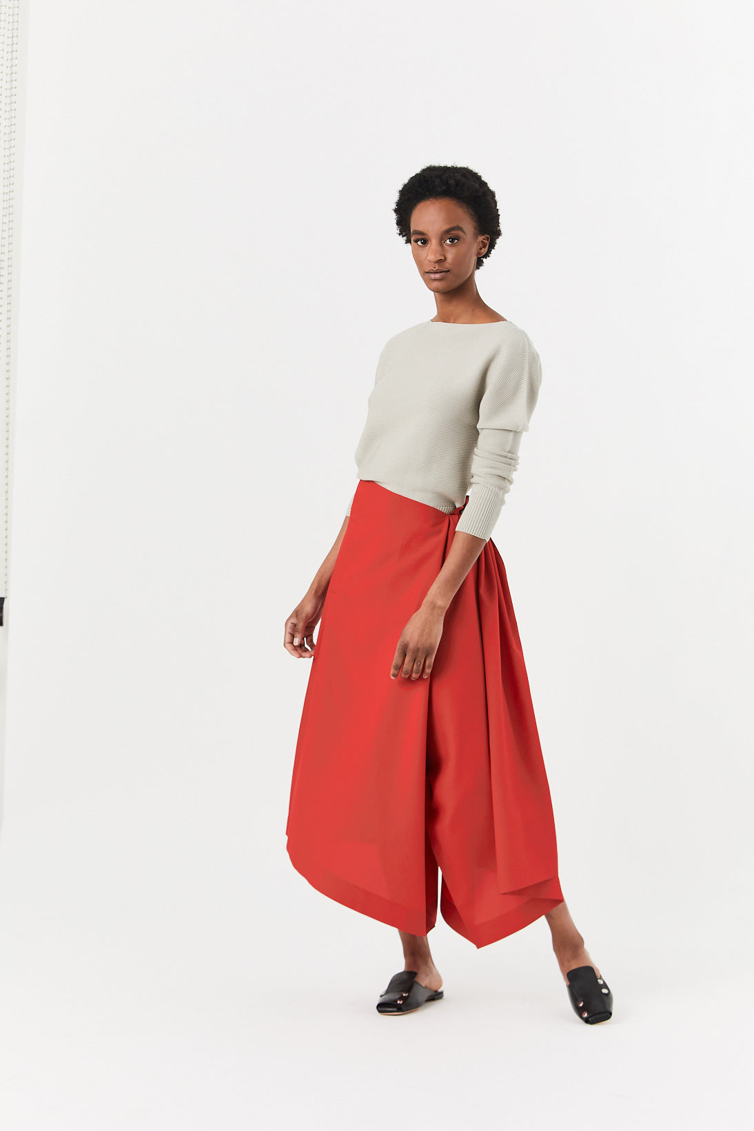 132 5. by Issey Miyake - Flat Slit Pant, Red