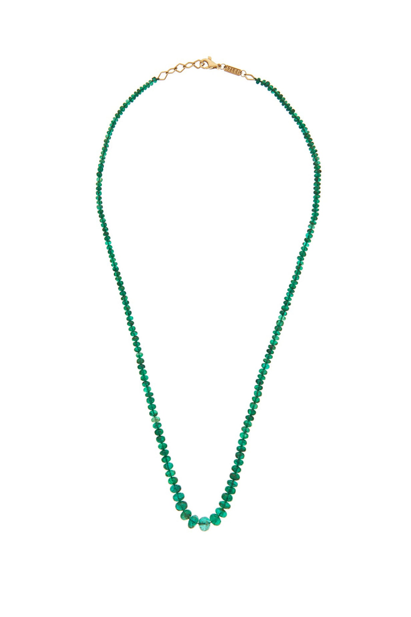 AZLEE - rich emerald bead necklace