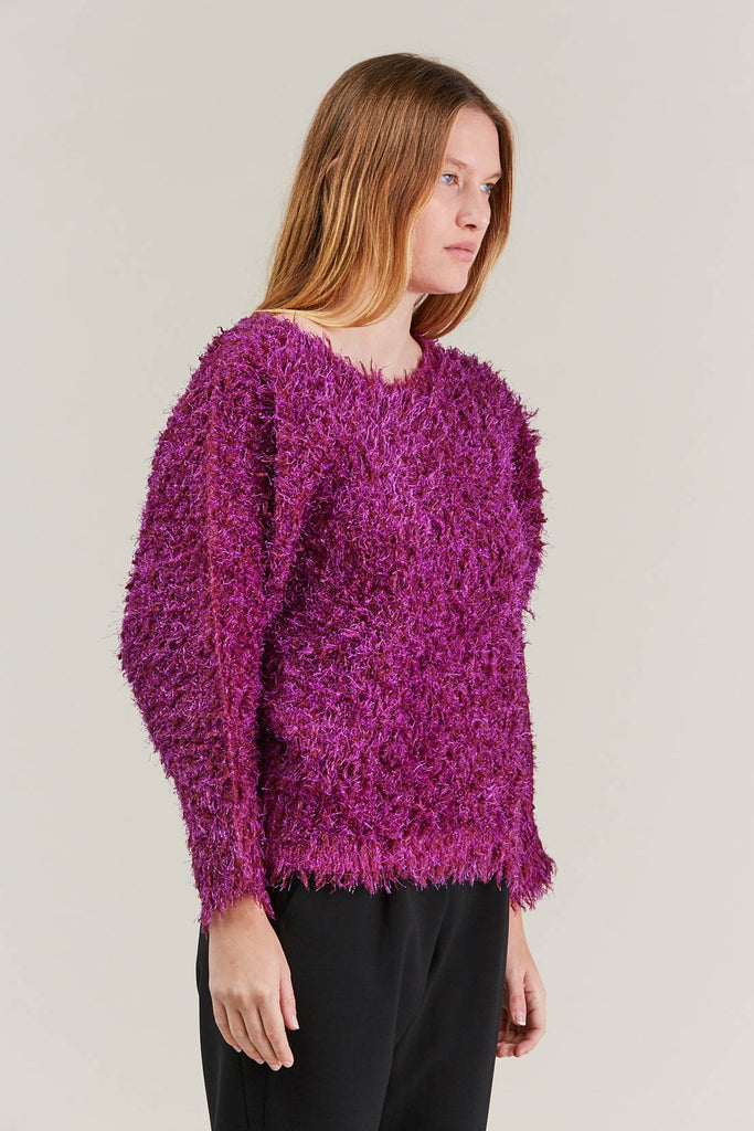 Fuzzy Sweater, Pink by Pleats Please by Issey Miyake @ Kick Pleat - 3
