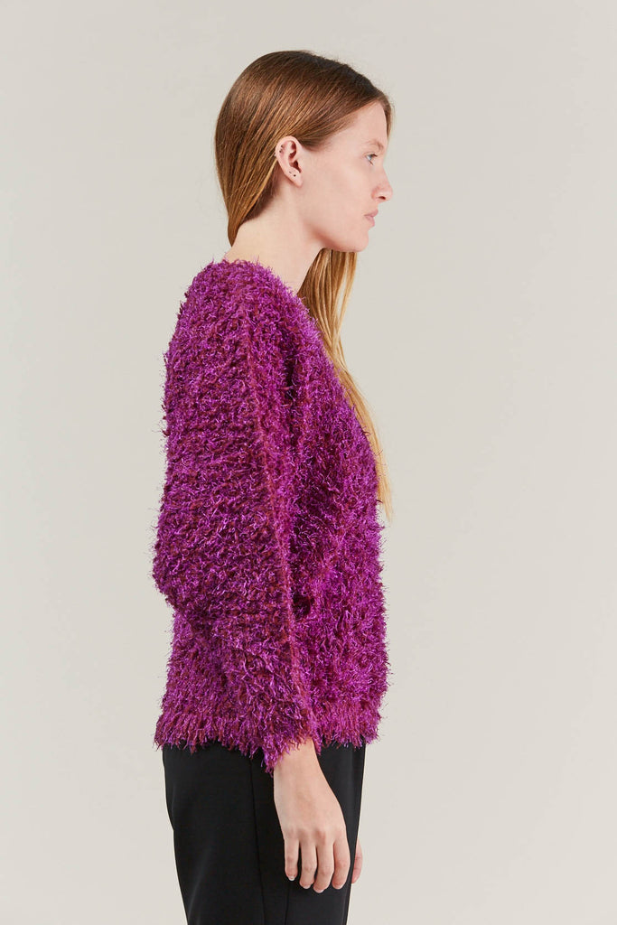 Fuzzy Sweater, Pink by Pleats Please by Issey Miyake @ Kick Pleat - 4