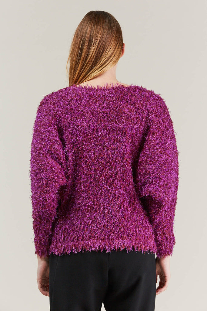 Fuzzy Sweater, Pink by Pleats Please by Issey Miyake @ Kick Pleat - 6