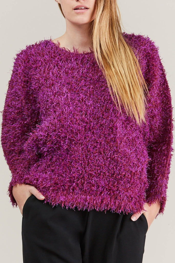 Fuzzy Sweater, Pink by Pleats Please by Issey Miyake @ Kick Pleat - 7