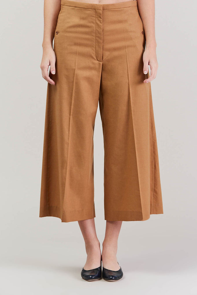 Cropped large pant, Camel by Lemaire @ Kick Pleat - 2