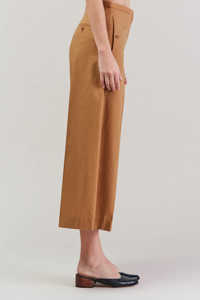 Cropped large pant, Camel by Lemaire @ Kick Pleat - 4