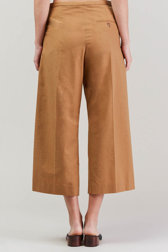 Cropped large pant, Camel by Lemaire @ Kick Pleat - 6