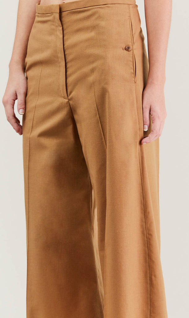 Cropped large pant, Camel by Lemaire @ Kick Pleat - 7