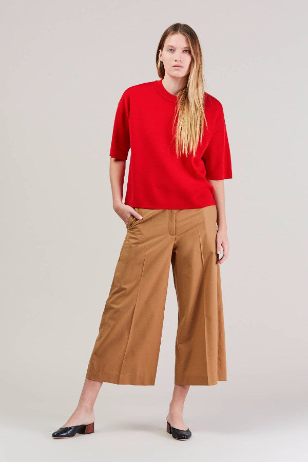 Cropped large pant, Camel