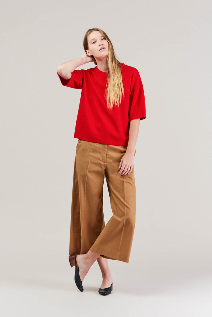 Cropped large pant, Camel by Lemaire @ Kick Pleat - 8
