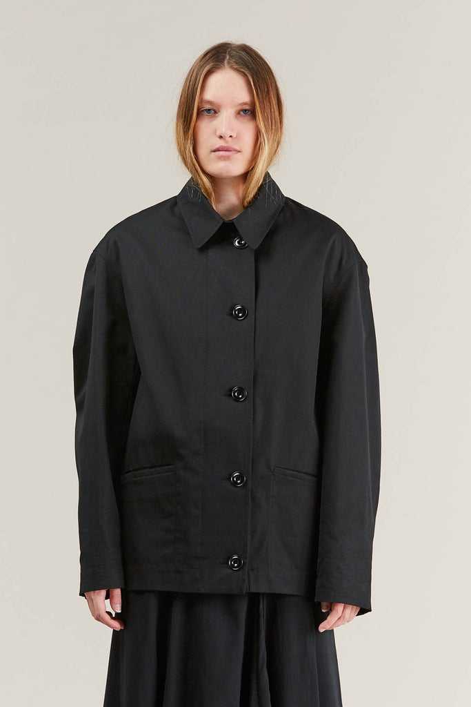 Short parka, Black by Lemaire @ Kick Pleat - 4