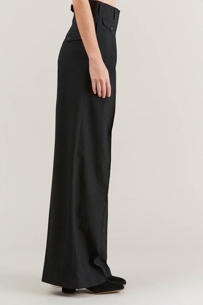 Two Pleated Pants, Black by Lemaire @ Kick Pleat - 4