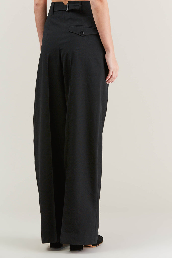 Two Pleated Pants, Black by Lemaire @ Kick Pleat - 5