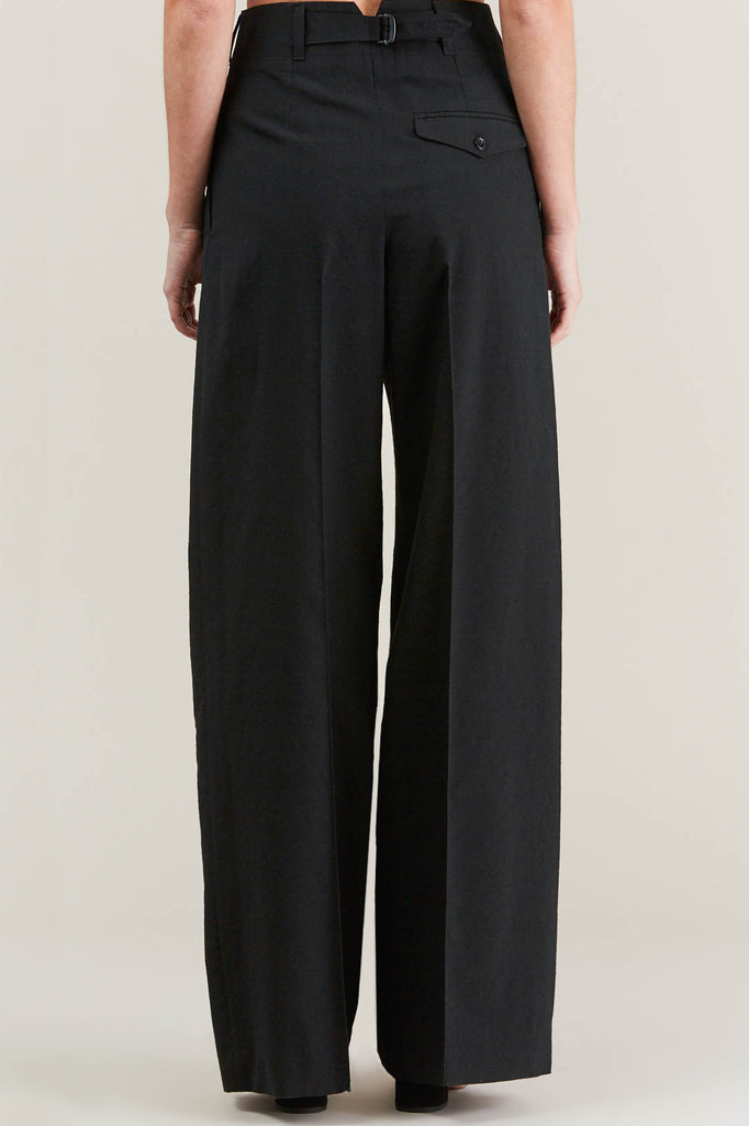 Two Pleated Pants, Black by Lemaire @ Kick Pleat - 6