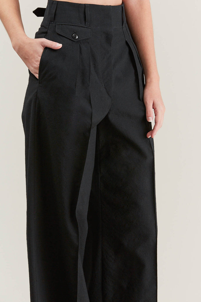 Two Pleated Pants, Black by Lemaire @ Kick Pleat - 7