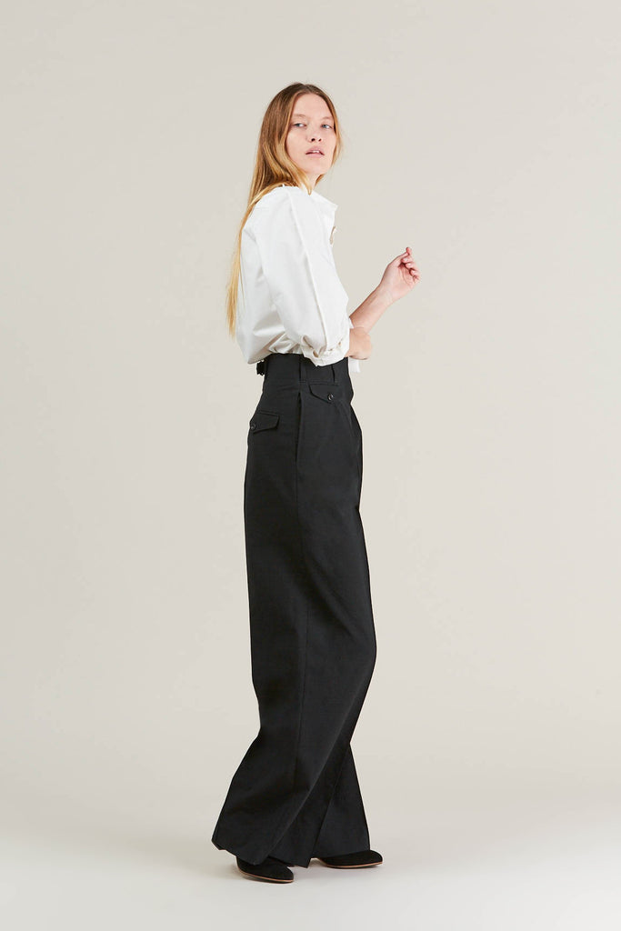 Two Pleated Pants, Black by Lemaire @ Kick Pleat - 8
