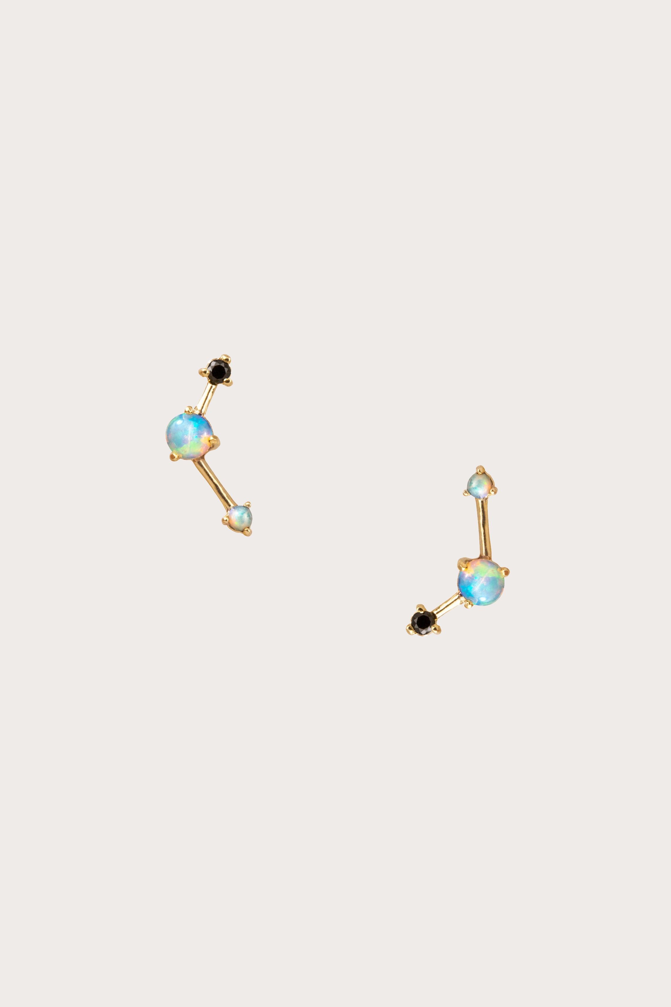 4fe9858171f51 Three Step Ballon Earrings, Black Diamond – Kick Pleat