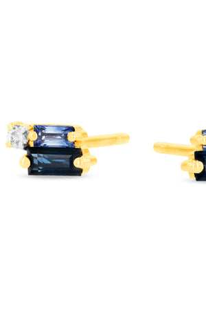 layered blue sapphire earring