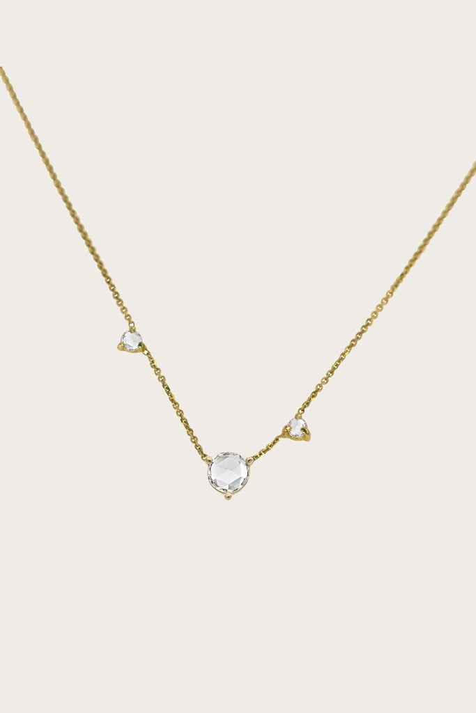 WWAKE - Three-Step Rose Cut Diamond Necklace