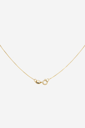 WWAKE - 3 step rose cut necklace, gold with diamonds