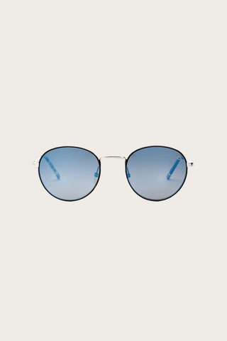 Le Marais Polarized Sunglasses, Silver/Blue