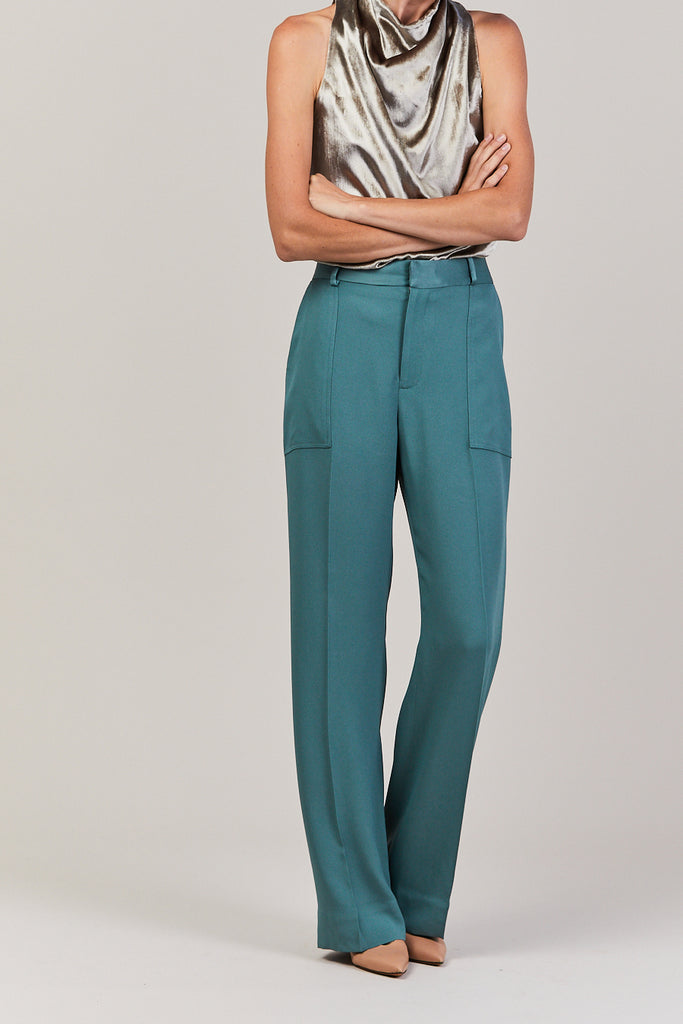 Patch Pocket Trouser, Viridian