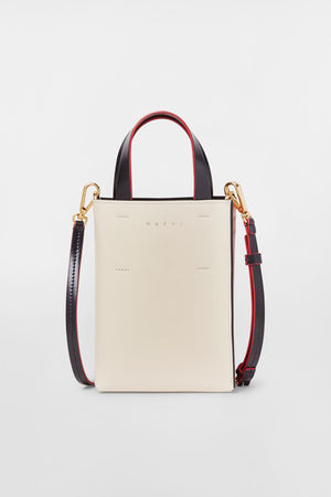 MARNI - small museo bag, beige and black