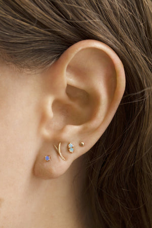 small opal studs pair