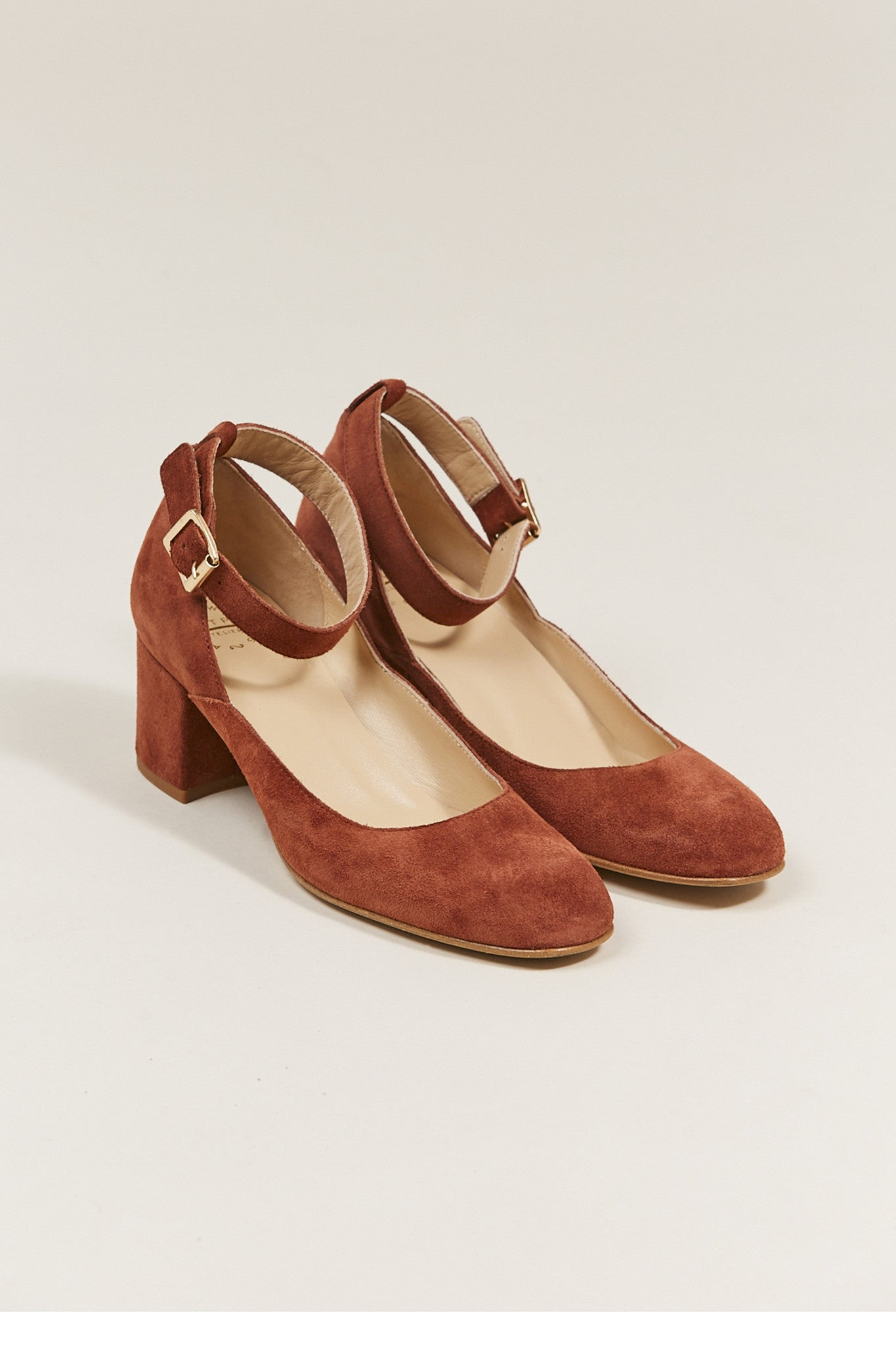 Dani ankle strap heel, Rust by ATP @ Kick Pleat - 1