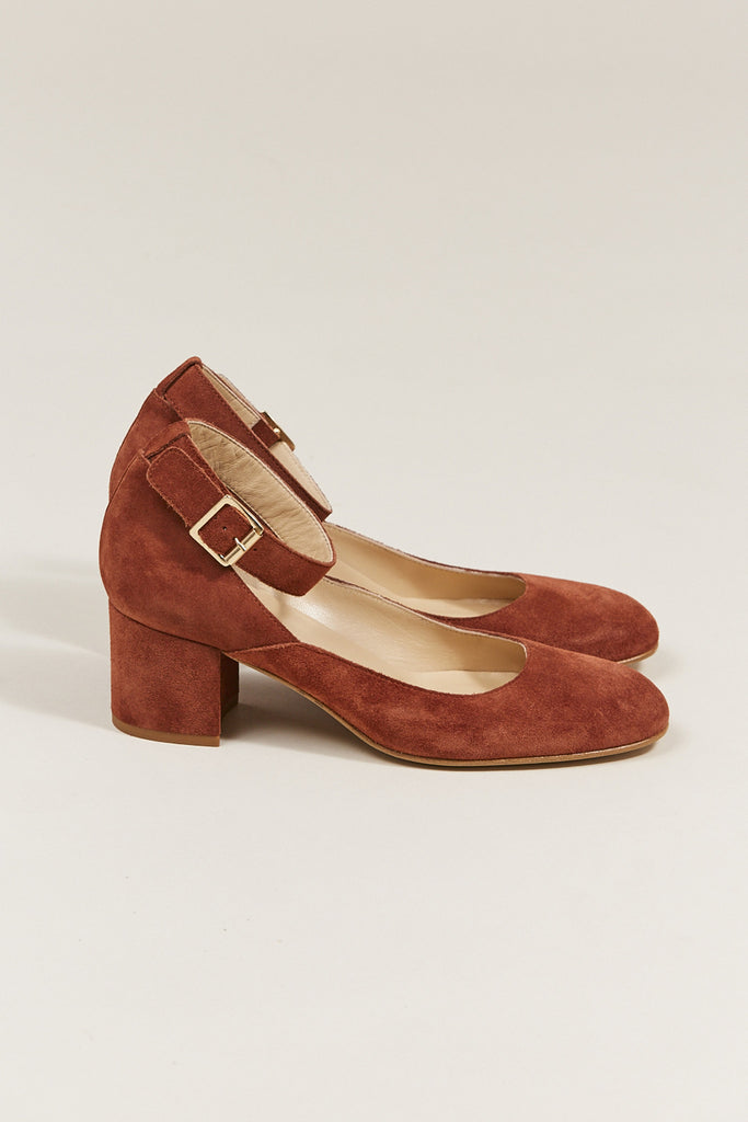 Dani ankle strap heel, Rust by ATP @ Kick Pleat - 2