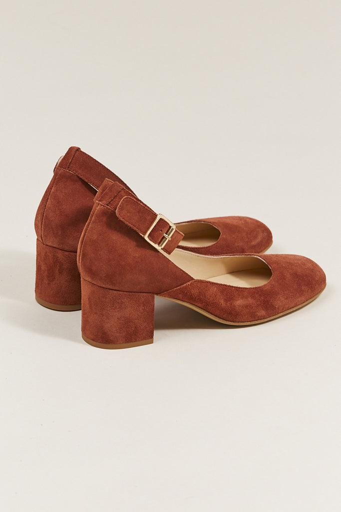 Dani ankle strap heel, Rust by ATP @ Kick Pleat - 3