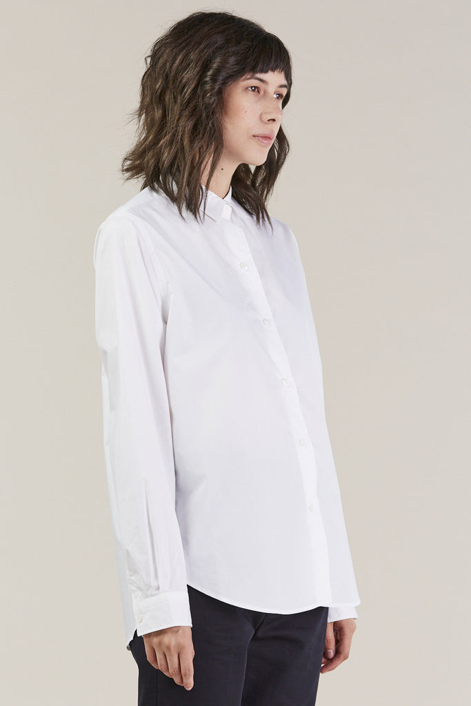 Back classic button down, White by Sofie D'Hoore @ Kick Pleat - 3