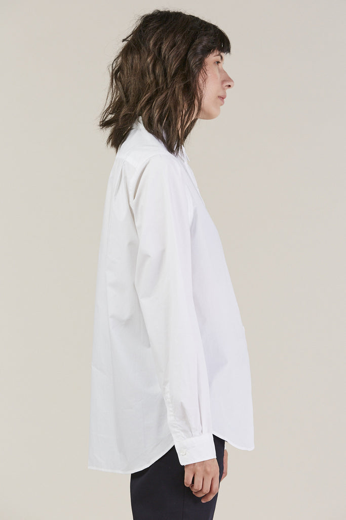 Back classic button down, White by Sofie D'Hoore @ Kick Pleat - 4
