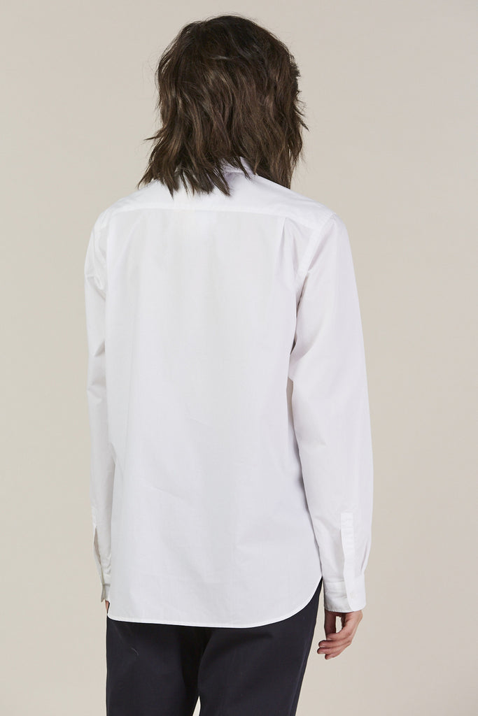 Back classic button down, White by Sofie D'Hoore @ Kick Pleat - 5