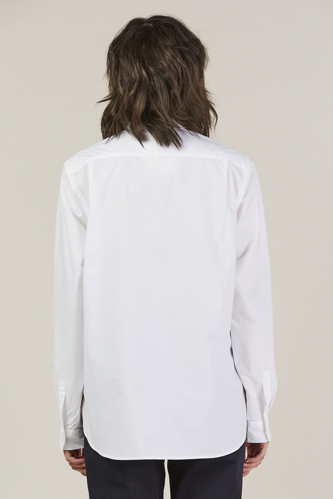 Back classic button down, White by Sofie D'Hoore @ Kick Pleat - 6