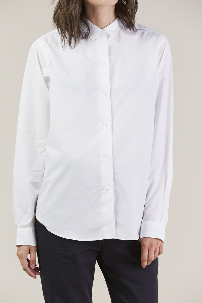 Back classic button down, White by Sofie D'Hoore @ Kick Pleat - 7