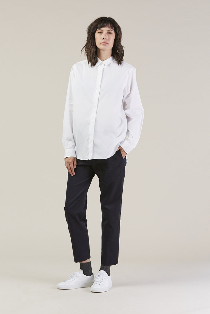 Back classic button down, White by Sofie D'Hoore @ Kick Pleat - 2