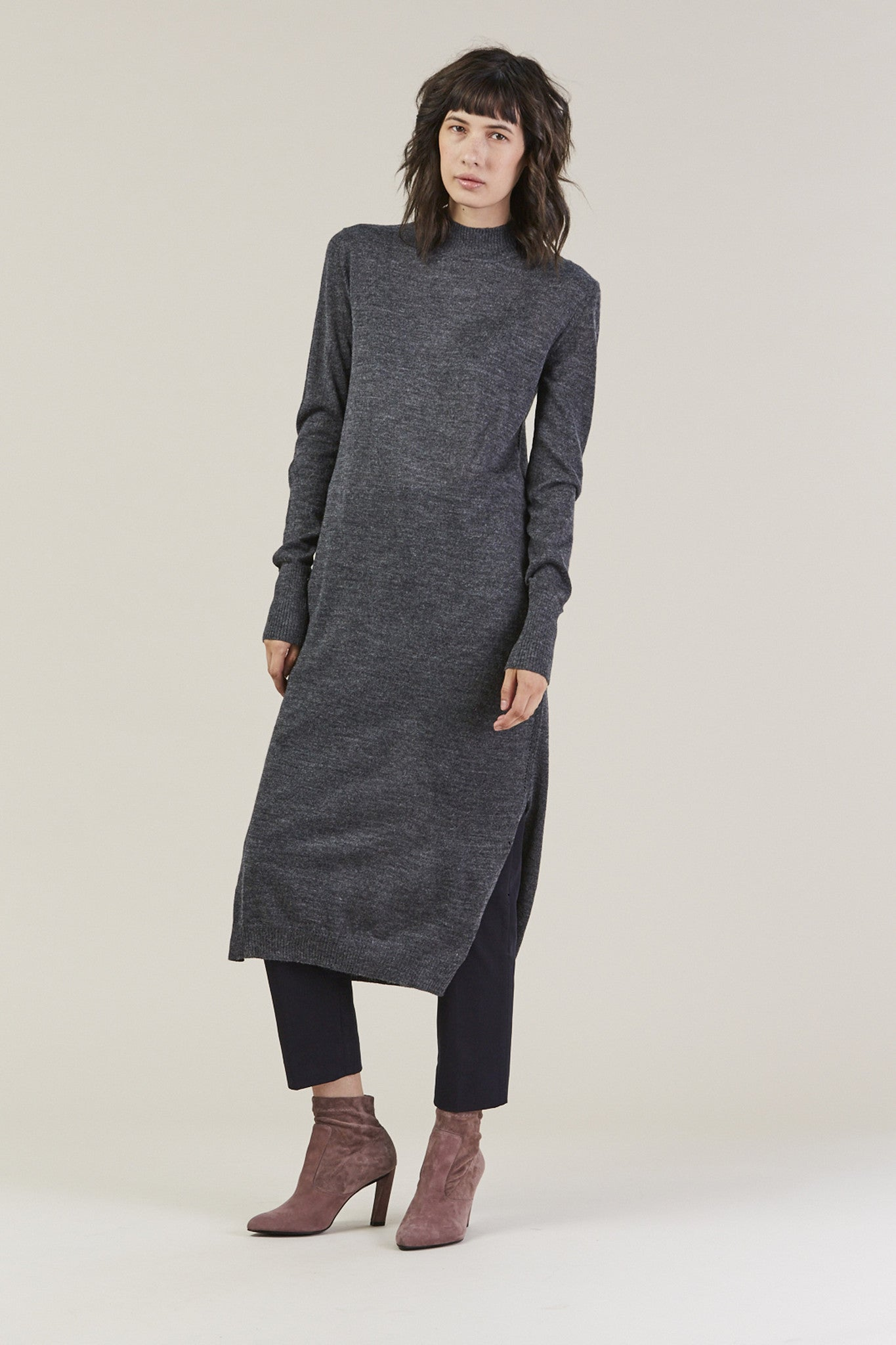 Sanctify Dress, Charcoal by Rachel Comey @ Kick Pleat - 1