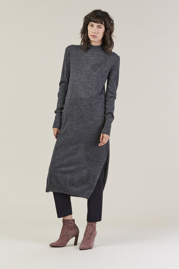 Sanctify Dress, Charcoal