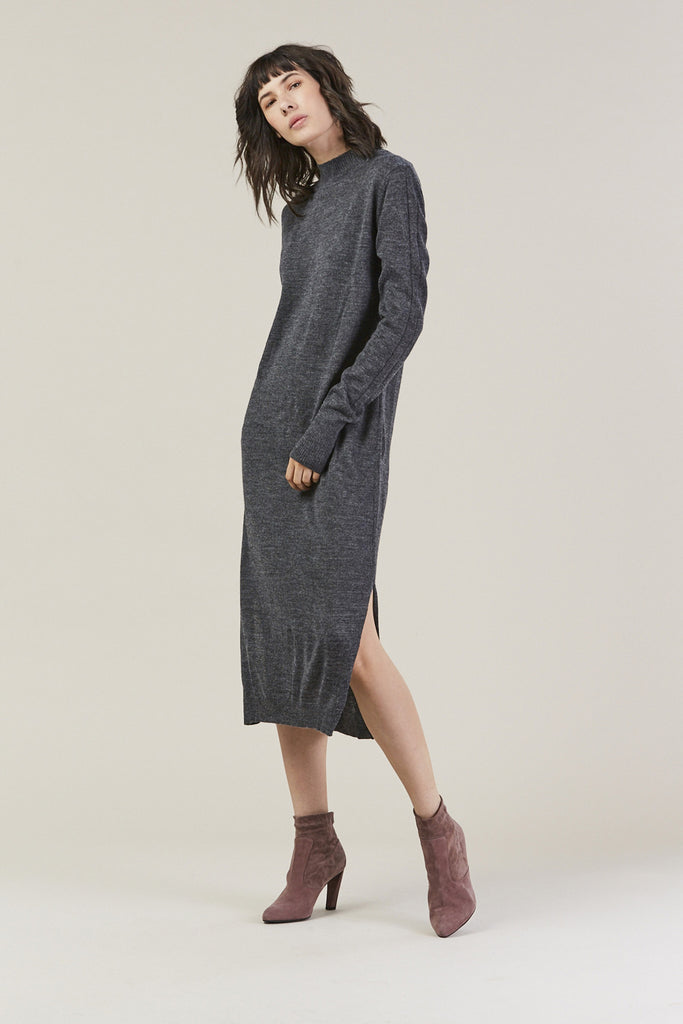 Sanctify Dress, Charcoal by Rachel Comey @ Kick Pleat - 2