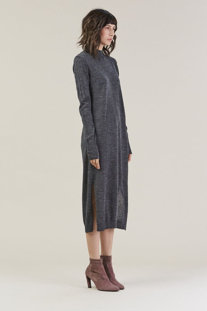 Sanctify Dress, Charcoal by Rachel Comey @ Kick Pleat - 6