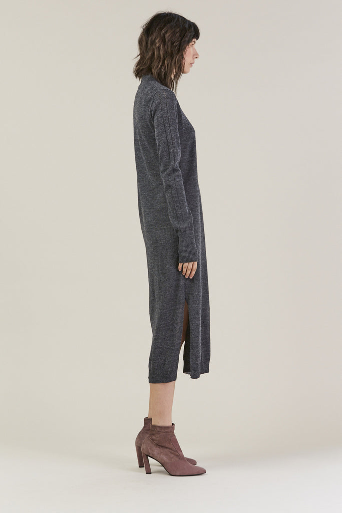 Sanctify Dress, Charcoal by Rachel Comey @ Kick Pleat - 3