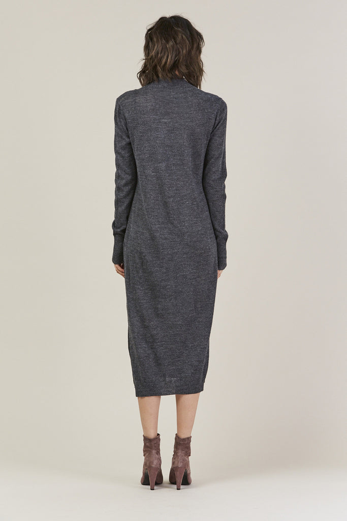 Sanctify Dress, Charcoal by Rachel Comey @ Kick Pleat - 5