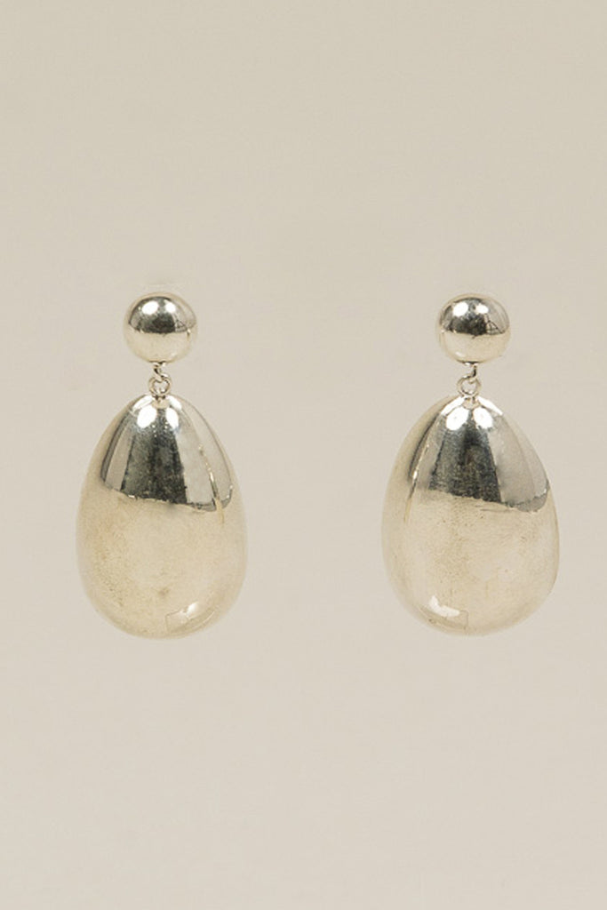 Egg Drop Earrings, Sterling Silver by SOPHIE BUHAI @ Kick Pleat - 1