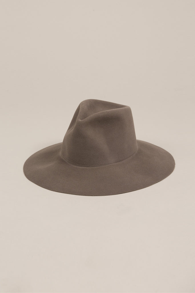 Wide Brim Pinch Hat, Mink