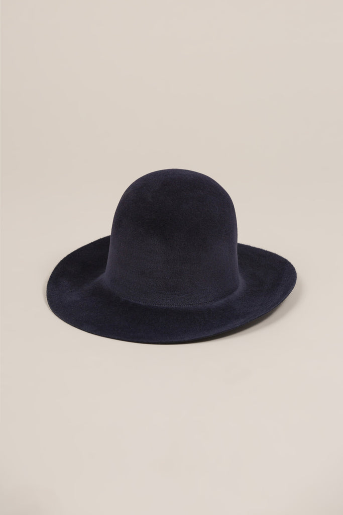 Short Brim Dome Hat, Navy by Clyde @ Kick Pleat - 1