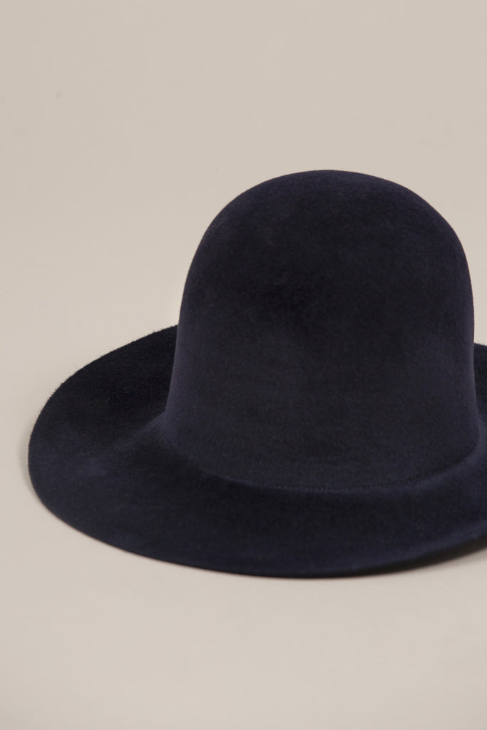 Short Brim Dome Hat, Navy by Clyde @ Kick Pleat - 2