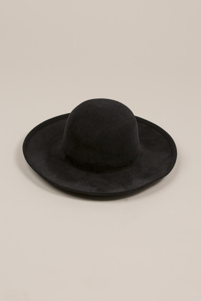 Suede Roller Hat, Black